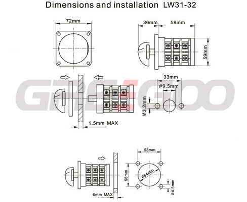 Cam Operated Rotary Switch Diagram on 16 position rotary switch wiring diagram